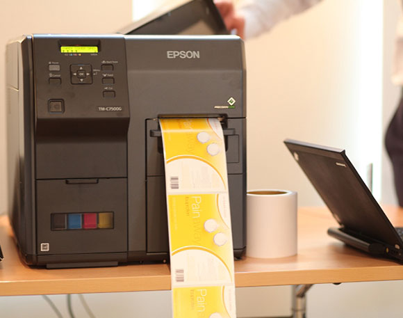The presentation of EPSON ColorWorks printers