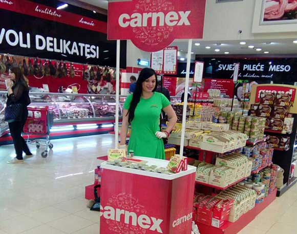 Carnex Smazalice promocije u Crnoj Gori